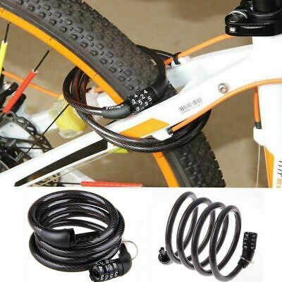 Combination Number Code Bike Bicycle Cycle Lock Loop 12x1200mm Steel Cable Chain