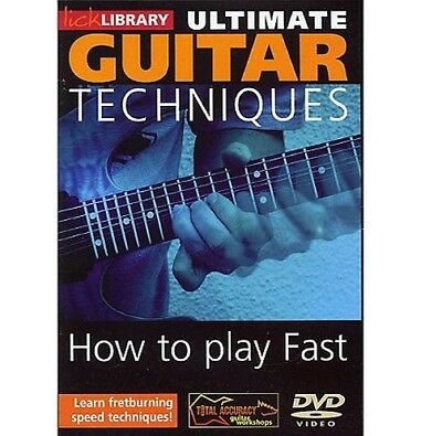 Lick Library Ultimate Guitar Techniques Play Guitar Fast DVD RDR0062