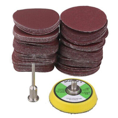 100PC 2 Inch Sanding Discs With M6 Backer Plate Sandpaper Hook And Loop Pads