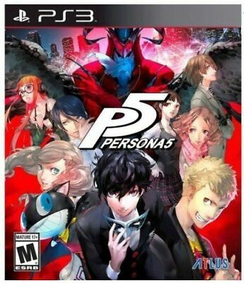 Persona 5 PS3 Playstation 3 Brand New Sealed