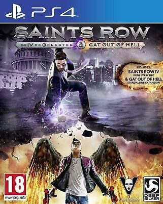 Saints Row IV 4 RE-ELECTED & GAT Out Hell - Playstation 4 (PS4) Brand New Sealed