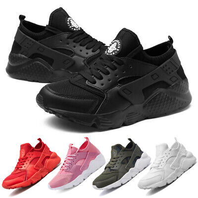 Uk Mens Womens Trainers Lace Up Mesh Sports Running Casual Shoes Walk Breathable