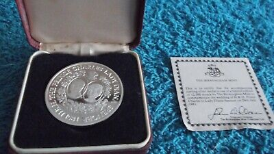 1981 SOLID SILVER CHARLES & DIANA LIMITED EDITION COMMEMORATIVE MEDAL 99p 333-BD