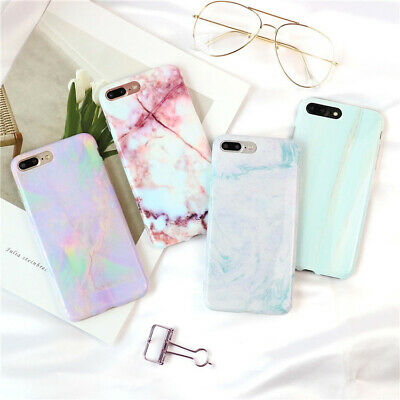 For iPhone 6 6S 7 8 Plus X Phone Case Cover Protective Marble Soft TPU Cases New