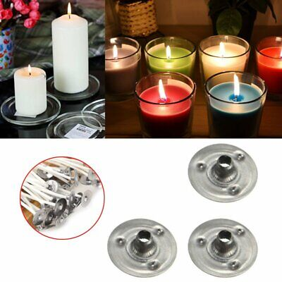 100pcs Candle Wicks Low Smoke Pre Waxed Wick with Tabs Sustainers Cotton Core WS