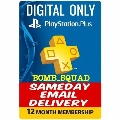 PS Plus 12 Months *NO CODE READ DESCRIPTION* SAMEDAY DELIVERY Playstation 4 PS3