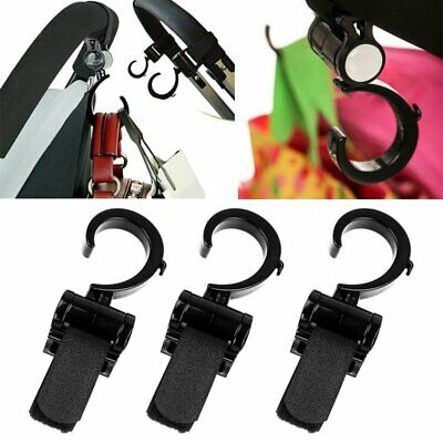 Universal Buggy Mummy Pram Pushchair Stroller Hook Shopping Bag holder Clip WS