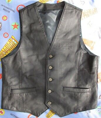 Sting 'Mercury Falling' Tour. Roadies Leather Vest. Made in England. Size L.