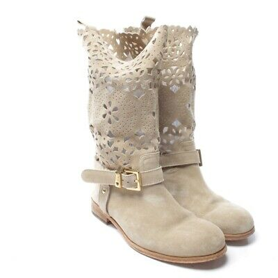 Twin Set Bottines Taille D 39 Beige Femmes Chaussures Boots Cuir 0f7105d9ceb