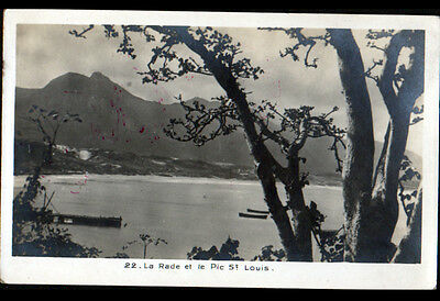 PORT SAINT-LOUIS (MADAGASCAR) RADE & PIC , FRANCHISE MILITAIRE COLONIAL en 1937