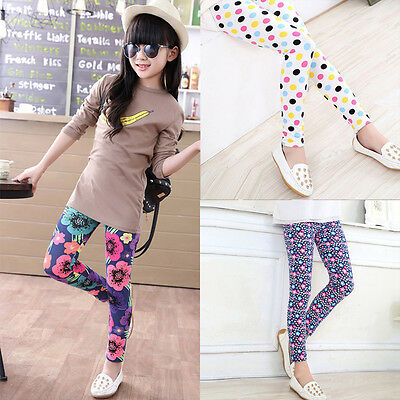 Child  Kid Toddler Baby Girls Bodycon Trousers Leggings Stretchy Pencil Pants KA