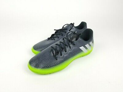 5ce2762c6bd Adidas 16.3 IN Messi 2016 Indoor Soccer Shoes Dark Grey - Green Brand New -  SZ