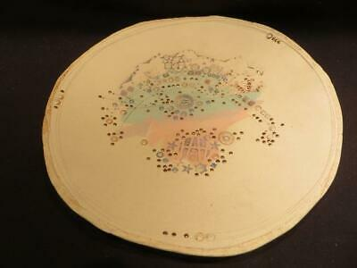 TSR 1958 Signed Vintage Pottery Dish with Embedded Faux Gems