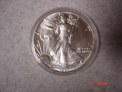 1987 Silver American Eagle One (1) Troy Ounce .999 Fine Silver One Dollar Coin
