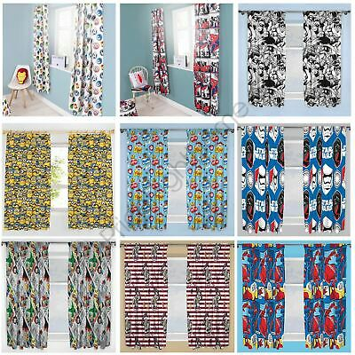 """Character Curtains Boys - Star Wars, Spiderman, Harry Potter, Minions.. 54""""& 72"""""""