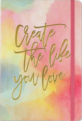 A5 Bullet Journal Create The Life You Love Dot Matrix Grid Note Book Hard Back