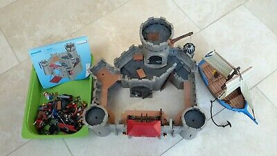 Playmobil Hawk Knights Castle 6001 and Pirate Ship