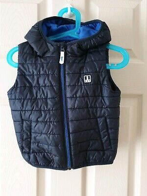 Next Toddlers Boys Navy Blue Gilet Age 18-24 Months