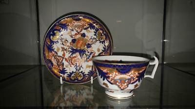Lovely Georgian Derby Gilded 'Japan' Imari Cup and Saucer London Handle C 1806+