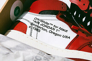 new product 76078 3c7b6 Nike Air Jordan 1 Retro High off white Chicago Red AA3834-101 The Ten Size