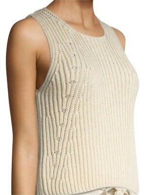 69ffe2a87c9f VINCE WOMENS CHUNKY Ecru Sleeveless Sweater