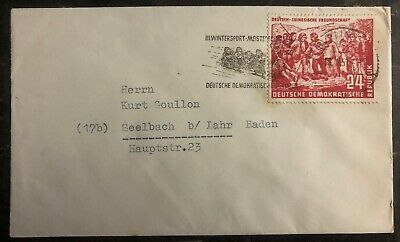 1951 Berlin East Germany DDR Cover to Seelbach Mao Tse Tung  # 83 Stamp