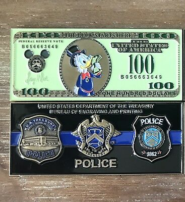 Disney challenge Coin Meets US TREASURY Police Scrooge Challenge Coin
