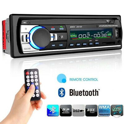 Bluetooth Car Stereo Audio In-Dash FM MP3 Radio Player AUX-IN SD USB Hands-free