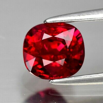 CERTIFICATE Inc.*1.14ct 5.8x5.4mm Cushion Natural Red Ruby *Heated Only No Glass