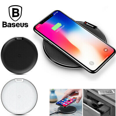 Baseus Qi Wireless Charger Fast Charging Pad For iPhone XS Max XR Samsung S9+