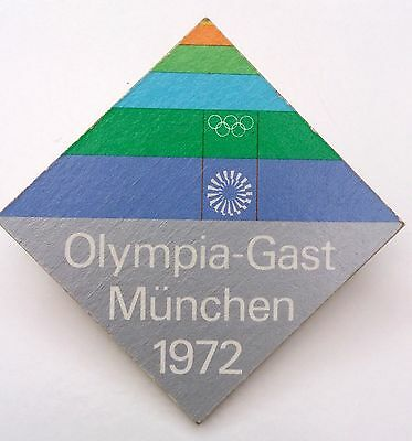 Otl AICHER 1972 Munich Olympics Guest Badge | Ulm School Modernist Design Braun