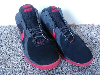 0530658be50 Nike Men Overplay VIII 8 Basketball Shoes (Sz 11) Black Gray Red