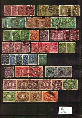 Germany Deutsches Reich INFLA ONLY USED BIG stamp lot VEEERY interesting