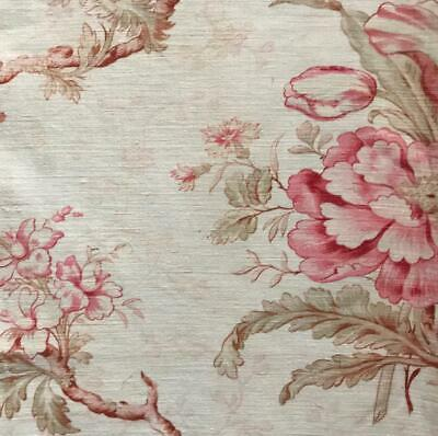 1.20m BEAUTIFUL LATE 19th CENTURY FRENCH FLORAL LINEN COTTON, 151.