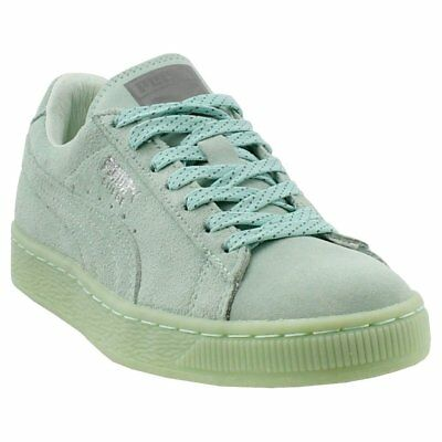 wholesale dealer 725ad a31f1 PUMA SUEDE CLASSIC Mono Reflected Iced Sneakers - Silver - Womens