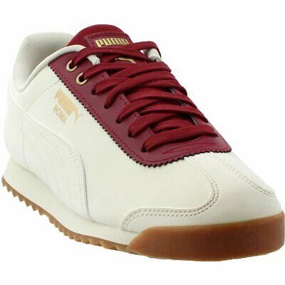 PUMA ROMA BEIGE Leather Navy Suede Vintage Trainers - UK 9   USA 10 ... f50beb307