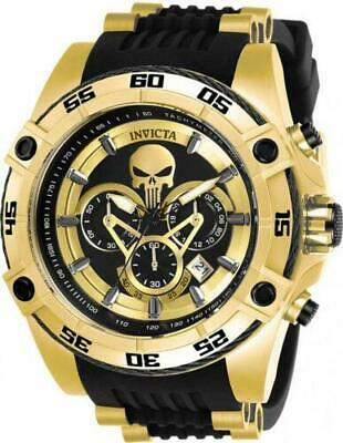 Invicta Marvel Punisher Men's Limited Edition Gold Chronograph Watch 26860