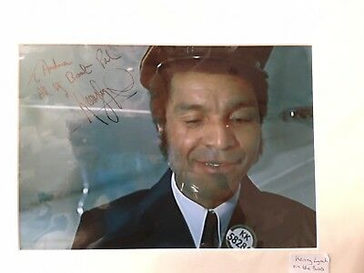 Kenny Lynch signed photograph as character in film carry on loving framed  DC
