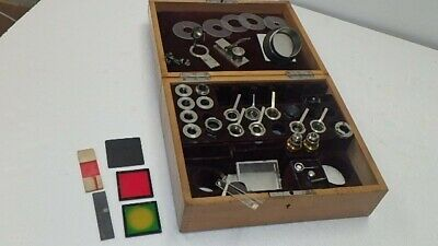 Vintage Leitz Wetzlar Bausch Lomb Optical Microscope Objective Kit De26