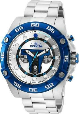 Invicta Star Wars Limited Jengo Fett 27967 Stainless Blue Chronograph Watch