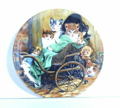 Collection Plate Seltmann Weiden Cat Puppenwagenexpress with Certificate