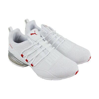 Puma Cell Regulate Sl Mens White Leather Athletic Lace Up Running Shoes