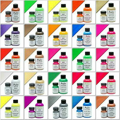 Angelus Brand Acrylic Leather & Vinyl Waterproof Paint All Colors 4 oz Bottle