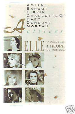 french K7 audio ACTRICES elles chantent gainsbourg