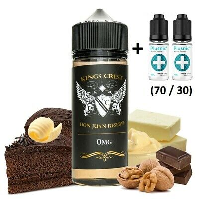 E-liquid Kings Crest DON JUAN RESERVE -100ml -0mg -BOOSTER +2 Nicokits 18mg 10ml