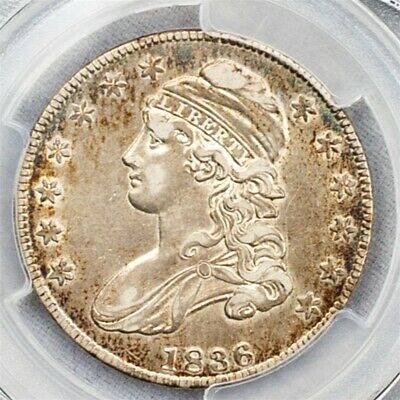 1836 Capped Bust Half Dollar Overton O-105-PCGS XF45-Lettered Edge-CAC Certified