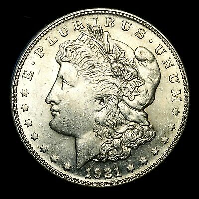 1921 S ~**ABOUT UNCIRCULATED AU++**~ Silver Morgan Dollar Rare US Old Coin! #X53