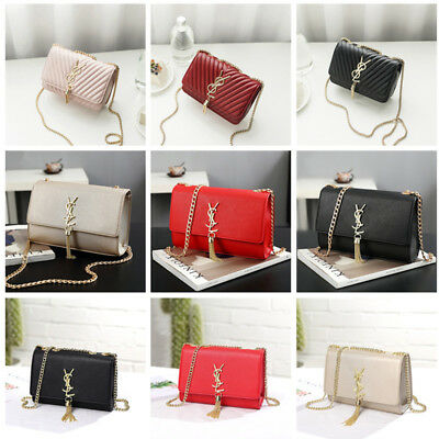 New Brand Women Fashion Tassels Shoulder Bag PU Leather Chain Handbag Ladies Bag