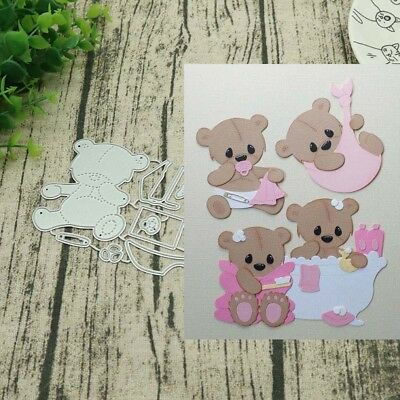Baby bear + Accessories Metal Cutting Dies Stencils DIY Scrapbooking Card Craft