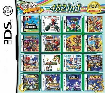 482 In 1 Video Game Cartridge Console Card For Nintendo NDS NDSL 2DS 3DS NDSI US